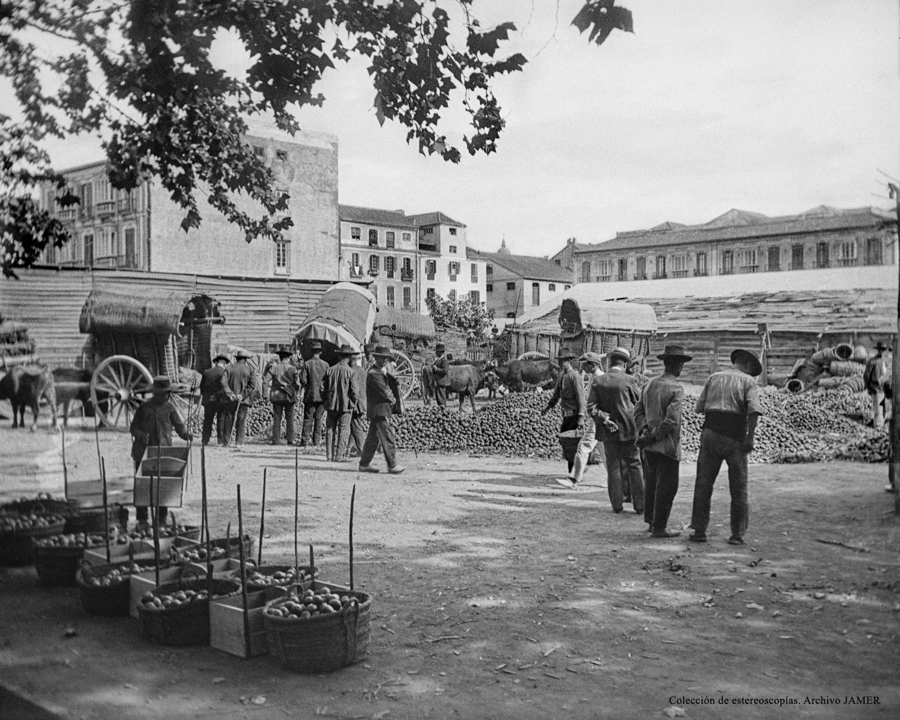 La vendeja en Málaga hacia 1910.