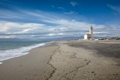 Playas e iglesia de Las Salinas de Cabo de Gata. Almería