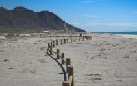 Playas y pueblo de las Salinas de Cabo de Gata. Almería