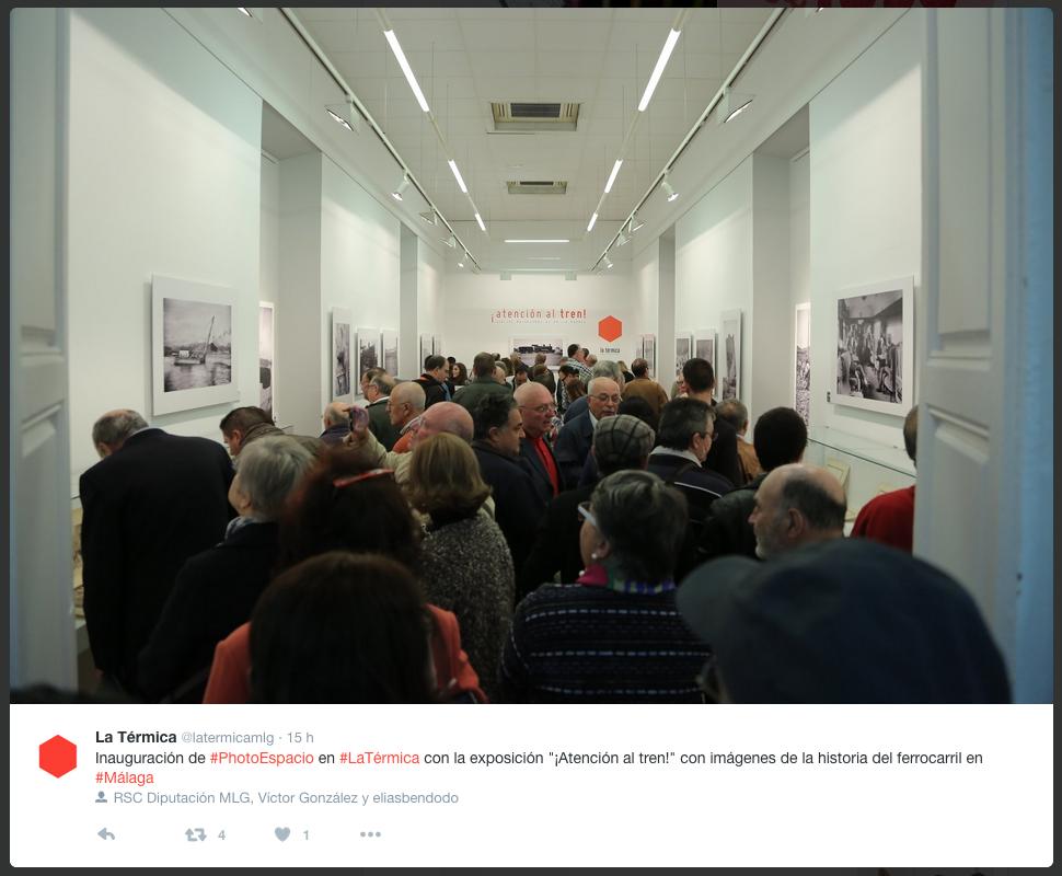 Inauguración exposición ¡Atención al Tren! en la Térmica, Málaga (España). 10-11-2016