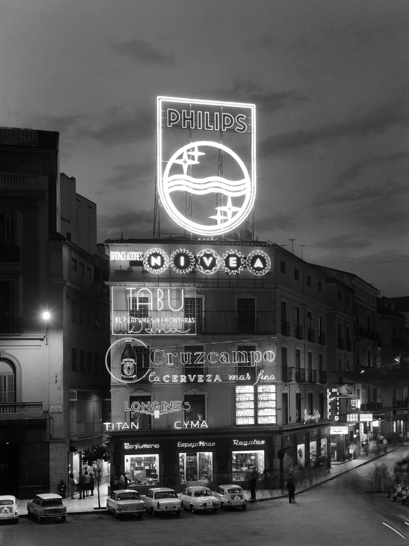 Málaga. Plaza de la Constitución. Junio de 1966