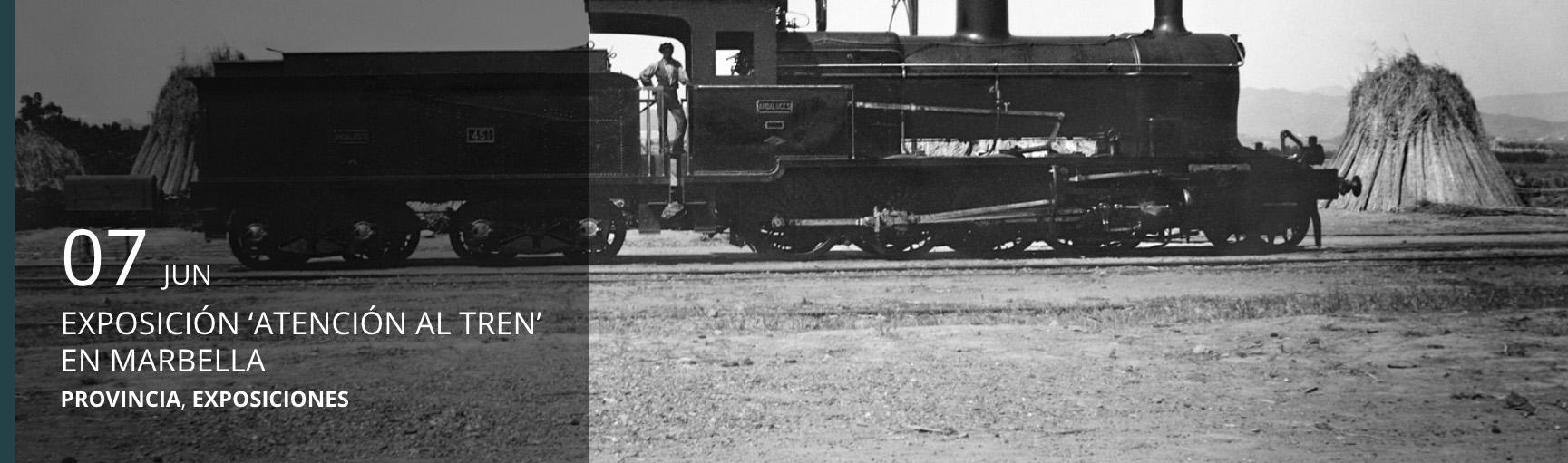 Exposición ¡Atención al tren! en Marbella.