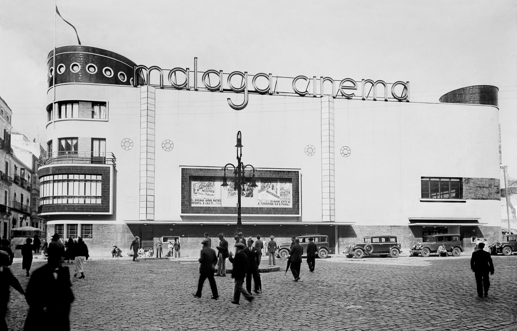 Fotografía del desaparecido Málaga Cinema hacia 1935
